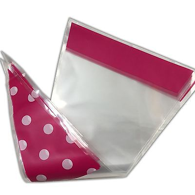 Pink Polka Dot Funky Sweet Cone Bags - Party Favour Cellophane Bag
