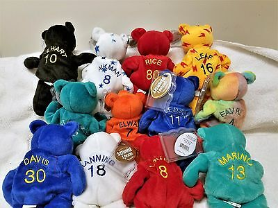 SALVINOS BAMMERS -PLUSH BEAN BAG FOOTBALL PLAYERS 12 pcs all different