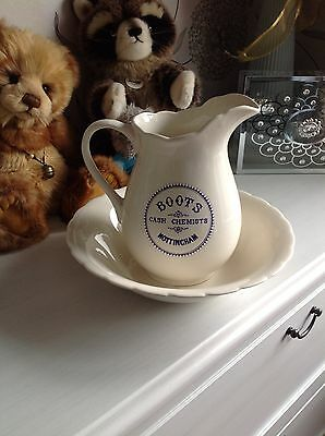 Antique Jug And Bowl By Boots The Chemist. Collectors Piece. Bathroom