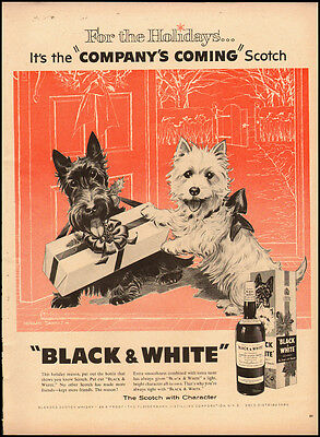 "1955 Vintage ad for ""Black & White"" The Scotch with Character  (040112)"