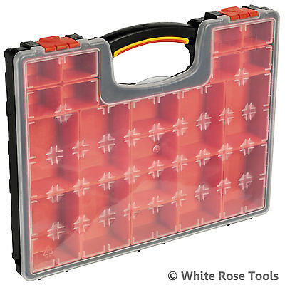 New  APAS2R Tool Parts Storage Case Box Tray 20 Removable Compartments