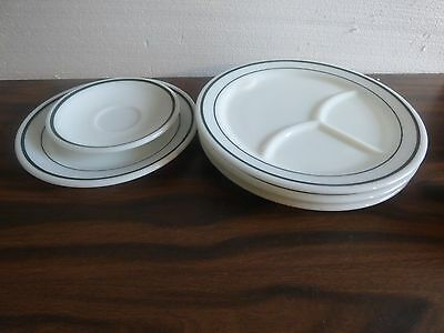 Pyrex restaurant style divided plates