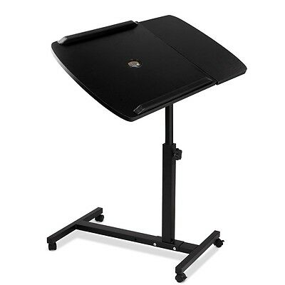 NEW Rotating Mobile Laptop Computer iPad Desk Adjustable Stand Table Bed Tray