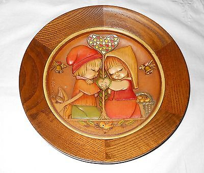 """Vintage """"Wedding Day 1972"""" Wood Wall Hanging By Anri"""