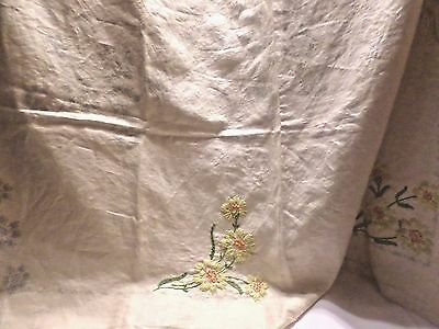 Vintage Bucilla #1977 Linen Embroidery Tablecloth Kit 60 x 80 CLOTH ONLY