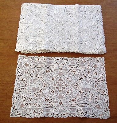 Lace Placemats Set Antique 12 Handmade Italian Place Mats Figural Cherubs Man