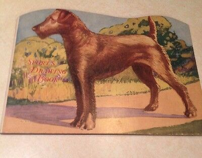 Vintage Child's Paint + Drawing Book -1927 - Irish Terrier
