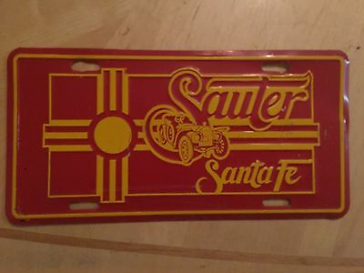 Sauter Toyota Dealer Santa Fe New Mexico Booster Front Novelty  License Plate