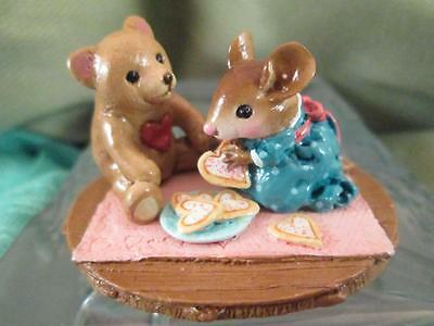 "Wee Forest Folk WFF M-384 ""SWEET TREATS"" '09 Signed (WP) Heart Cookies w/Bear"