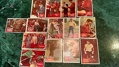 1956 BUBBLES INC. ELVIS PRESLEY TRADING CARDS 14 in Total (Back of Book) GLOSSY
