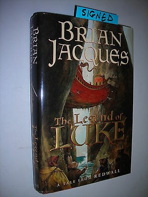 The Legend of Luke **Signed** Brian Jacques HC/DJ First Edition/1st Printing