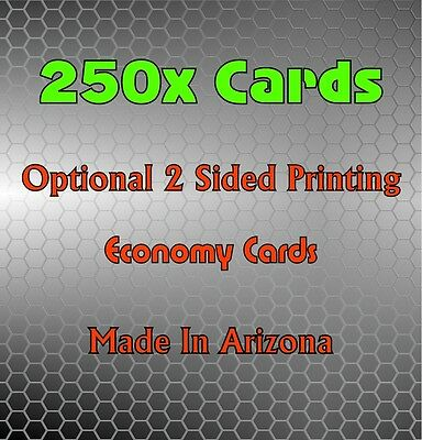 250x Business Cards (110LB Heavyweight) Color / Black & White