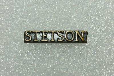 "Vintage Stetson Hat Pin Brass/bronze Lapel Bar Tack 1""x 3/16"" Small, NEW, NOS"