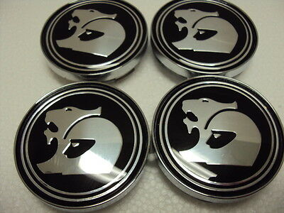 HSV WHEEL CENTRE CAPS  60mm SUIT NON GENUINE COMMODORE BLACK SMOOTH AND GLOSSY