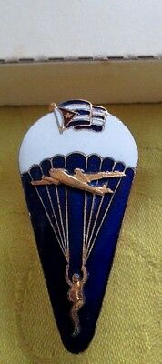 Original 1980s Cuban Airborne Jumper Paratrooper Badge+Box/FREE SHIPPING IN USA
