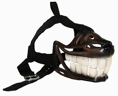 Adjustable Safety Strong Material Bite Proof Stop Chewing Dog Muzzle Medium,