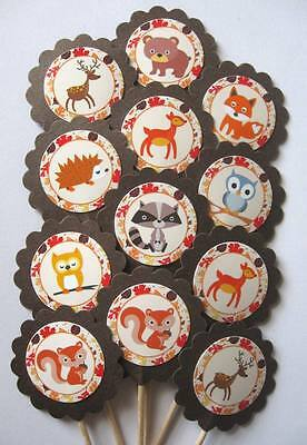 Woodland Animal Cupcake Toppers/Party Picks  Item #1517 Animals