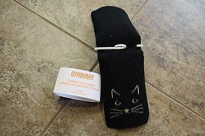 Gymboree Black Right Meow on Knee Design Tights Size 12-24 months.  NWT.