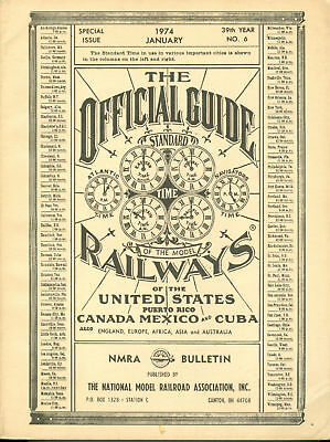 Nmra Bulletin 1974-Membership List-Rosters Of Model Railroad Clubs
