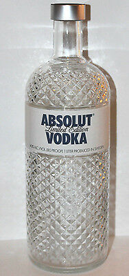 Absolut Vodka LIMITED EDITION GLIMMER collectible EMPTY glass BOTTLE 750 ML