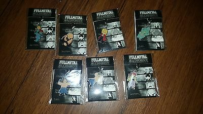 Full Metal Alchemist Zipper Charm Lot