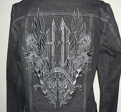 NWT Women's Harley-Davidson Black Denim/Jean Jacket L (96406-08VW)