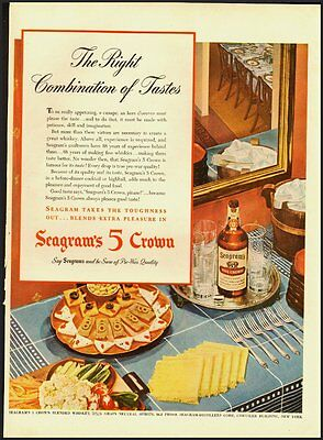 1945 Vintage Ad for Seagram's  5 Crown Whisky (021812)