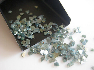 Blue Slices Natural Rough Raw Chips Uncut Loose Diamond 2-5mm 5 Carat GK31