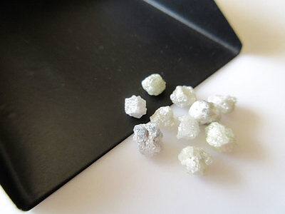 Natural 5 Pieces White Raw Rough Uncut Diamond Loose 5mm Approx SKU-DD64