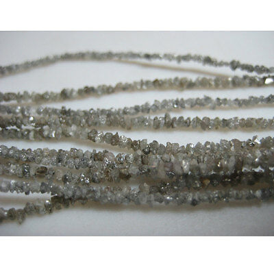 Natural Rough Raw Uncut Diamonds Loose Beads 2mm 8 Inches Half Strand Gs68