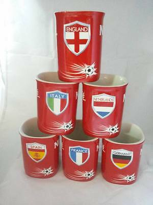Set Of 6 Euro Nescafe Red Cup Mugs Coffee Original Premium Gift Limited Edition