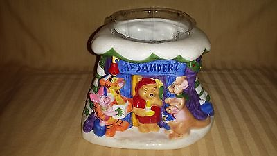 Disney Winnie The Pooh Eeyoree Tigger Mr. Sanderz Christmas Ftd Planter Vase