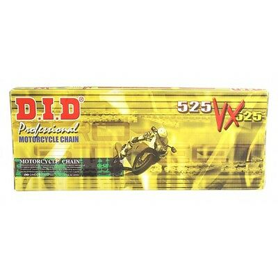DID 525VX-124L X-Ring Motorcycle Chain - 525 Pitch - 124 Link
