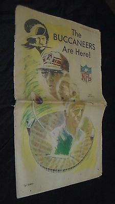 RARE VINTAGE 1976 THE BUCCANEERS ARE HERE Tampa Tribune-Times Newspaper