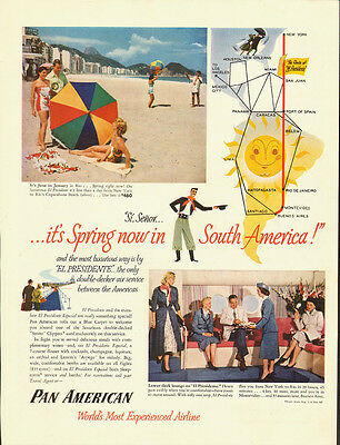 1950's Vintage ad for Pan American Airlines/Spring/South America (052113)