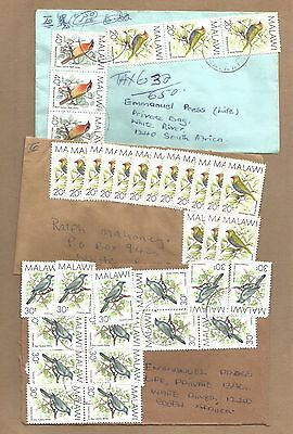 Malawi: 3 used 'Interesting' covers (one TAXED) + 13 diff used.(Ref 604)