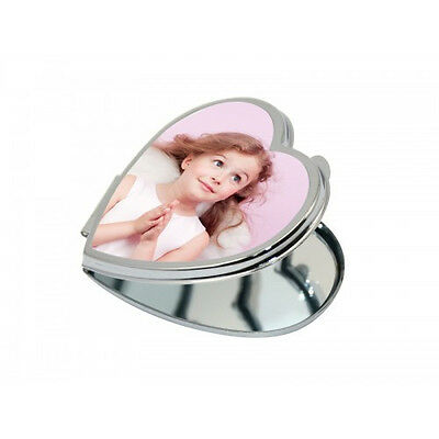 PERSONALISED HEART SHAPED COMPACT MIRROR ( 6.5*5.9CM) valentines day gift
