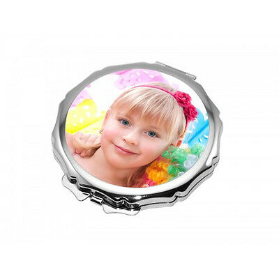 Personalised Ornate Round Shaped Compact Mirror Personalised Valentines Day Gift