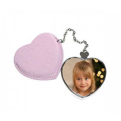 Personalised Leather Case And Heart Shaped Compact Mirror Valentines Day Gift