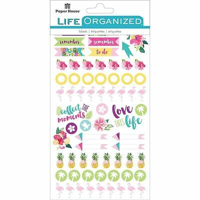 Life Organised - Embrace Today Planner Sticker Book - 4 Pages of Tropical Design