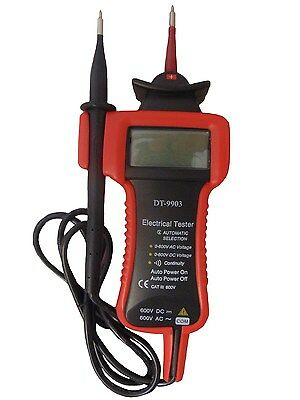 Digital Electrical Tester, Fully Auto, Ac/dc, Voltage Continuity