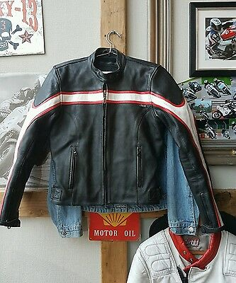 great quality ladies Triumph leather motorcycle biker jacket size S