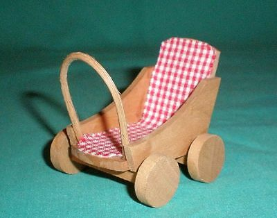 wooden small stroller/miniature/Collectables/Toys