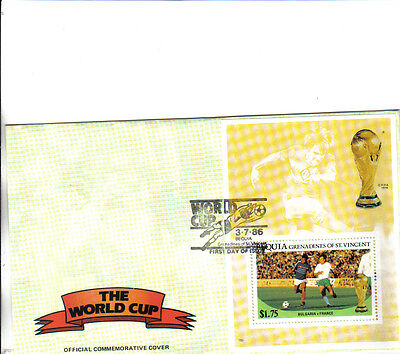 1986 mexico world cup commemorative cover depicting bulgaria v france