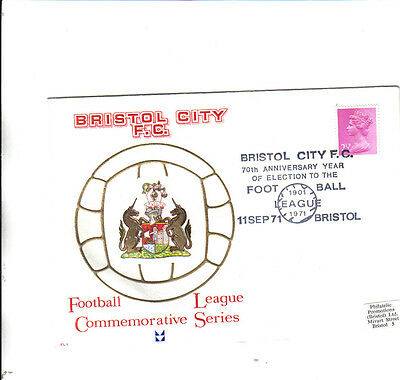 bristol city first day cover 70th anniversary of football league election