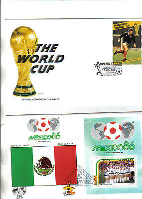 collection of 5 1986 world cup first day covers featuring scotland
