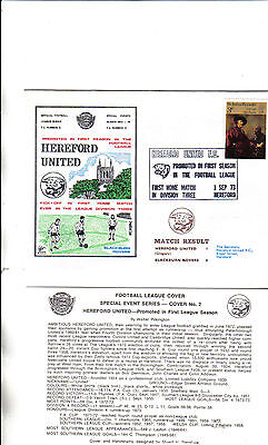 hereford united first day cover first home match in division 3