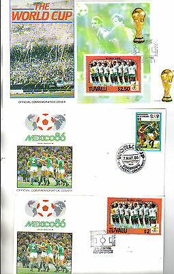 3 1986 world cup first day covers featuring northern ireland