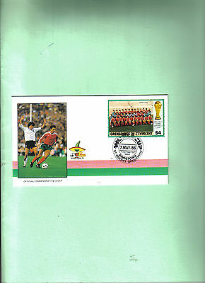 1986 world cup first day cover depicting portugal team