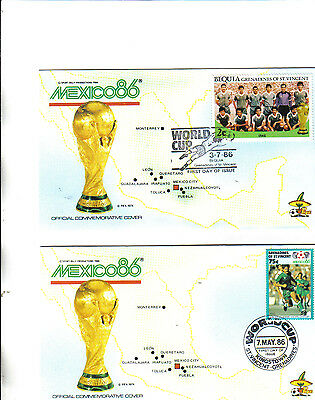 2 1986 world cup first day covers featuring iraq